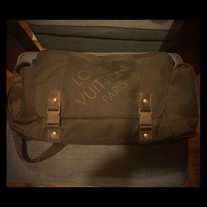Black LV messenger bag